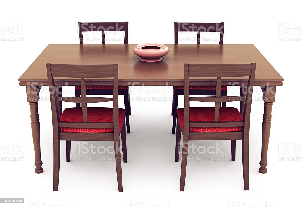 Dining Table and Chairs stock photo