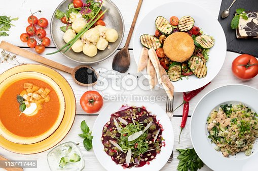 Table full of food