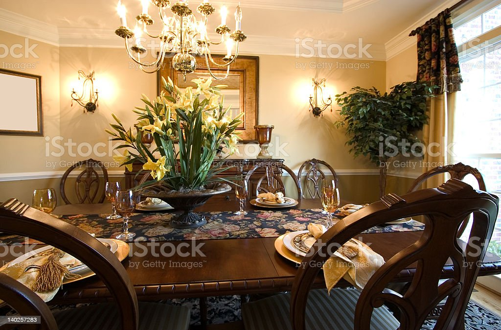 dining table royalty-free stock photo