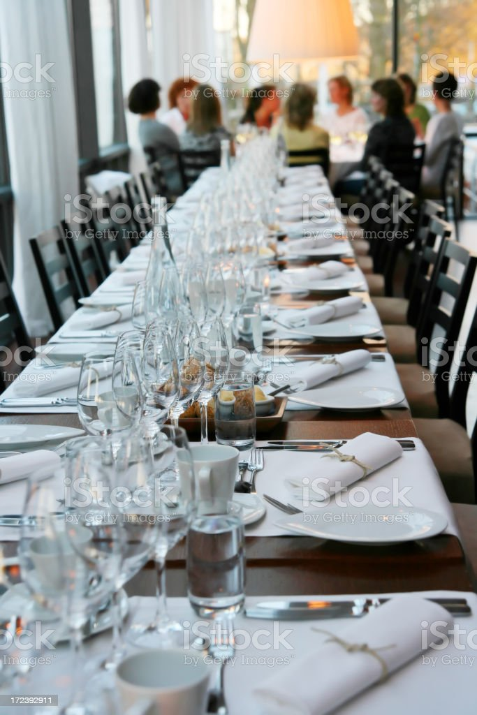 Dining Table. stock photo