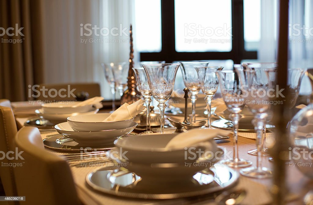 Dining Table stock photo