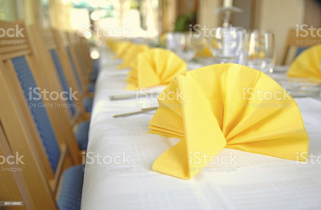 Dining table #6 royalty-free stock photo