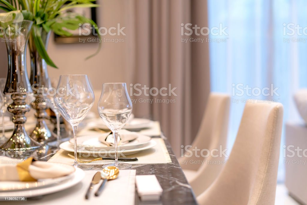 Dining Table Setting Accessory Home Interior Ideas Concept Stock Photo Download Image Now Istock