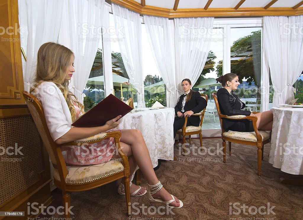 Dining view royalty-free stock photo