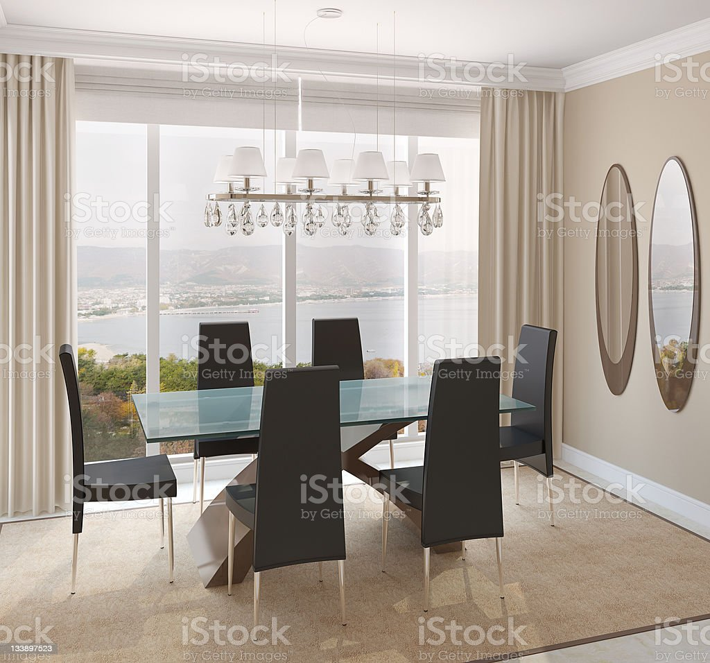 Dining-room interior. royalty-free stock photo