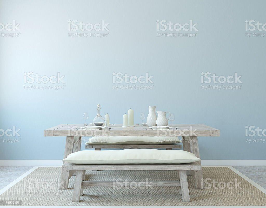 Dining-room interior. royalty-free stock photo