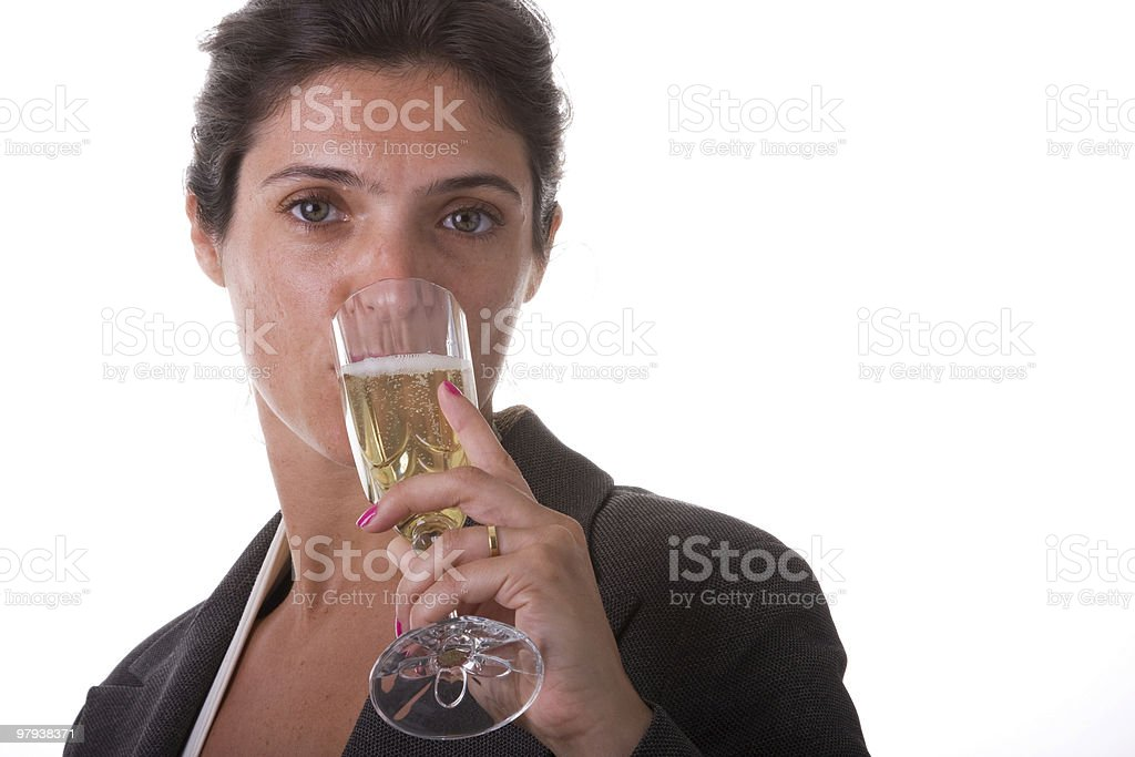 dinking champagne royalty-free stock photo