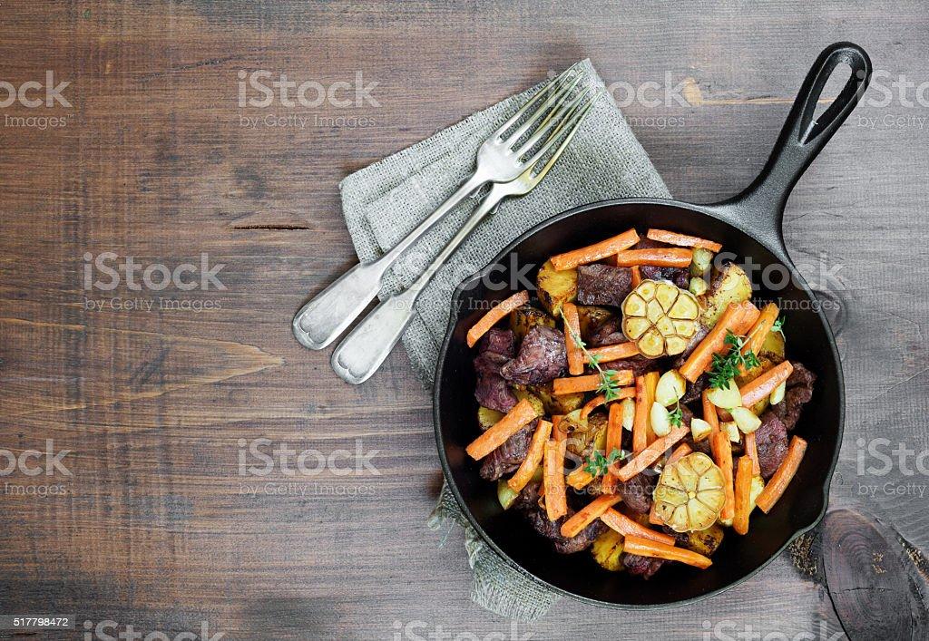 Dinner a la rustic stock photo