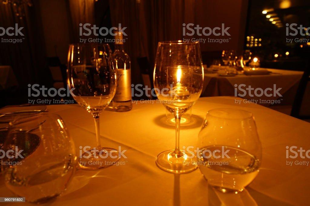 Dinner at hotel in Malta stock photo