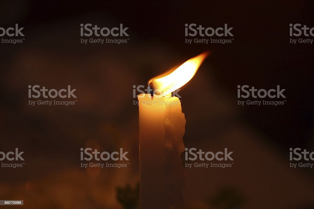 Dinner Candle (2) stock photo