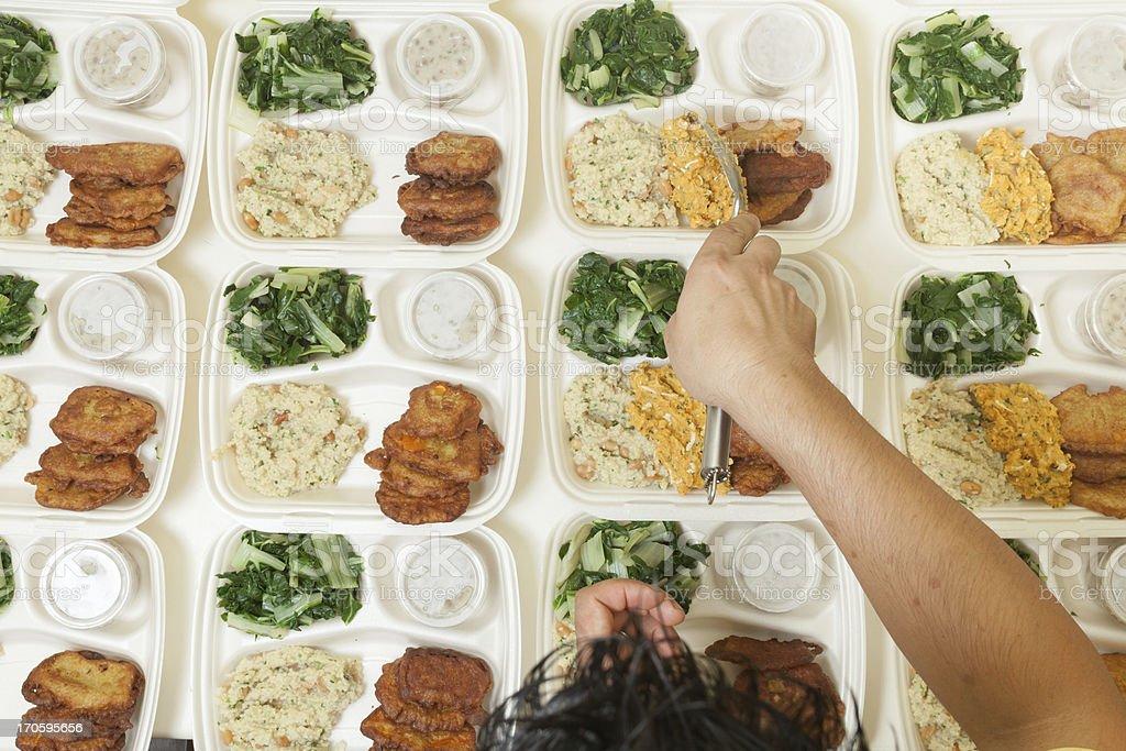 Dinner for dozens royalty-free stock photo
