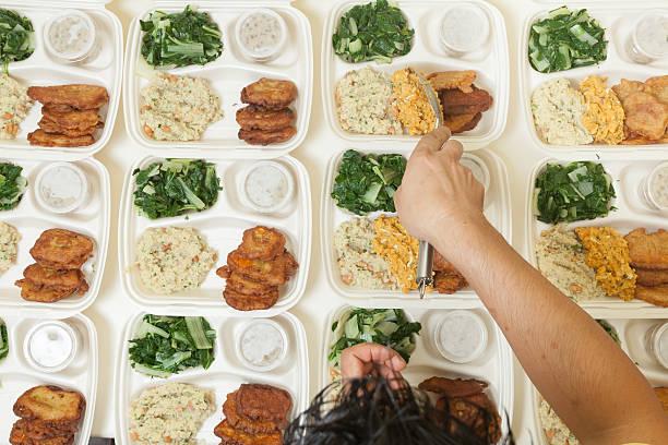 Dinner for dozens stock photo