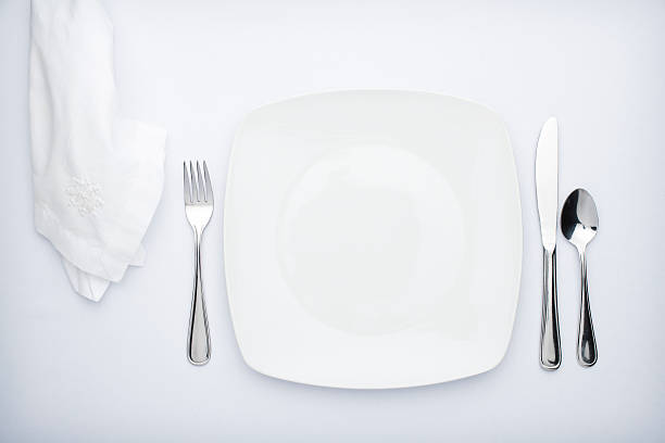 Dinner for one stock photo