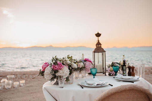 Dinner for two on the beach in Majorca