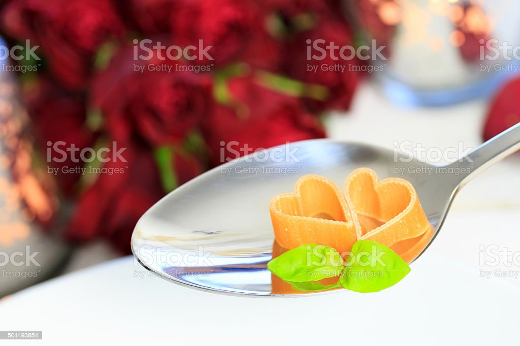 Dinner for two stock photo