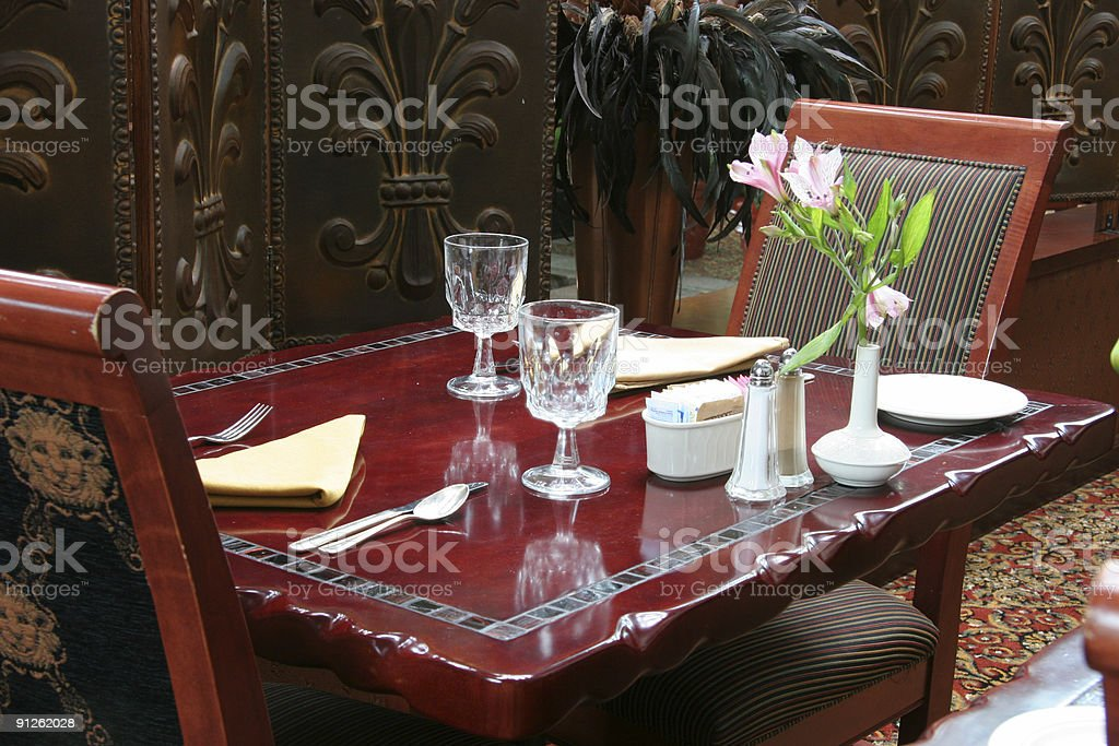 Dinner for two royalty-free stock photo