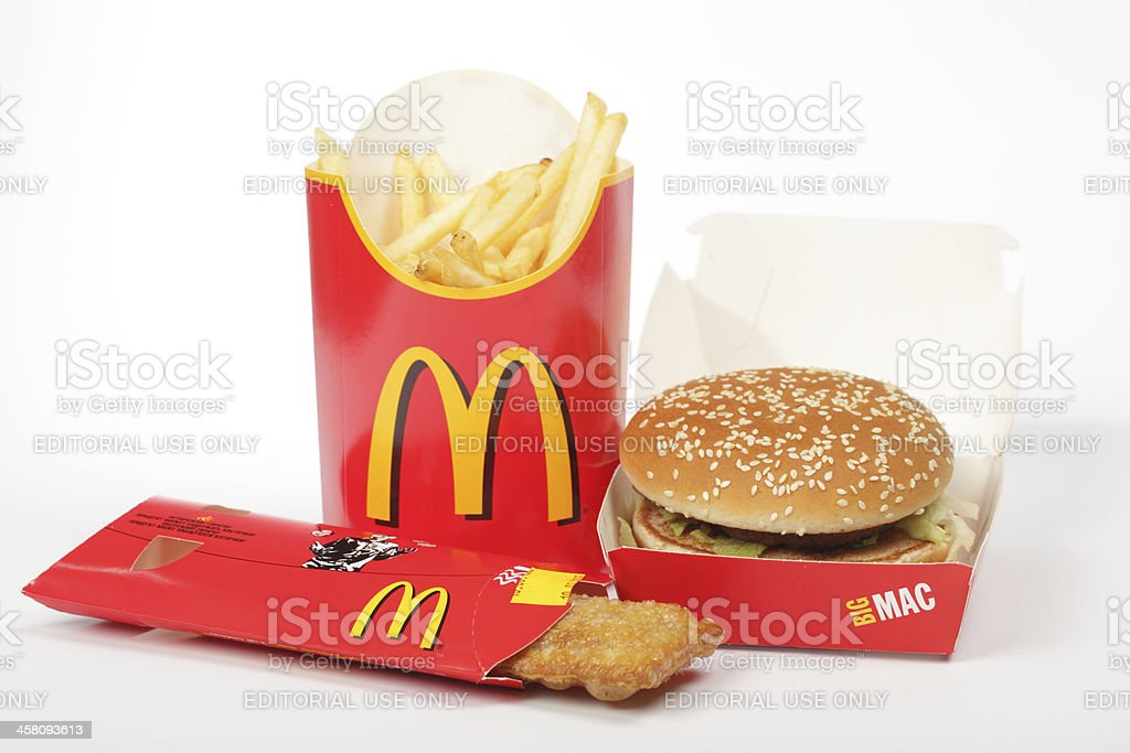 Dinner from McDonald's royalty-free stock photo
