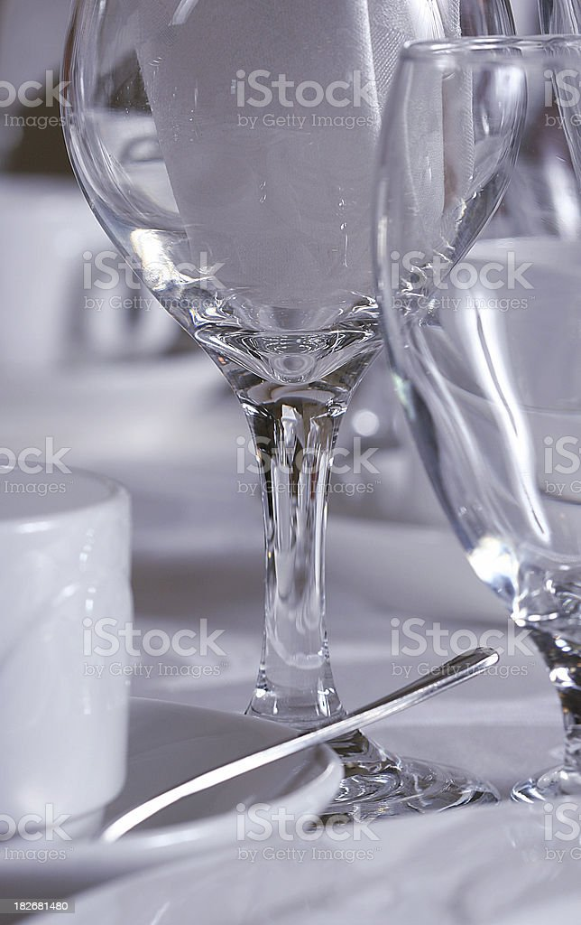 Dinner Glass Detail royalty-free stock photo