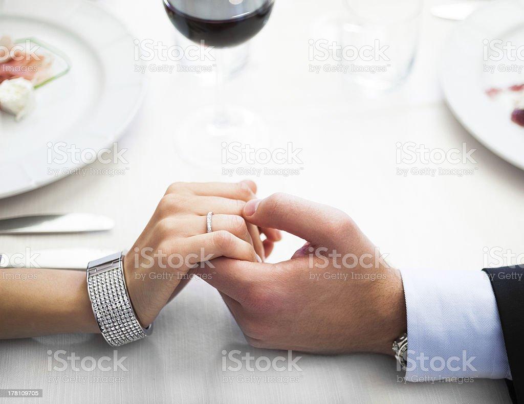Dinner in an italian restaurant royalty-free stock photo