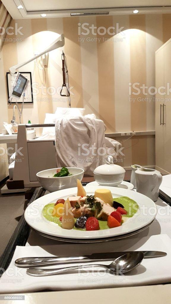 Dinner in Hospital stock photo