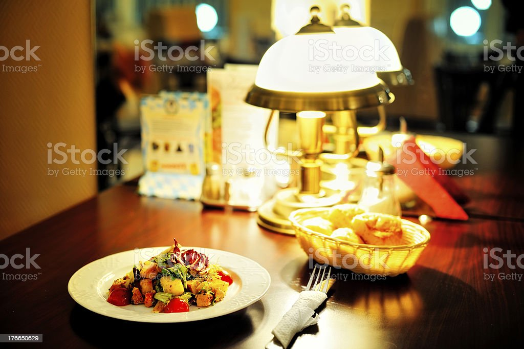 Dinner in the restaurant royalty-free stock photo