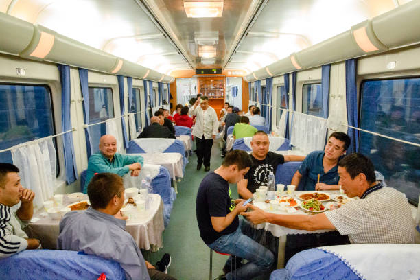 diner in Xinjiang Train​​​ foto