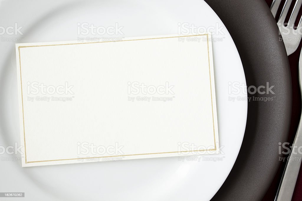 Dinner Invitation stock photo