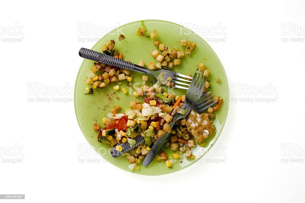 Dinner is eaten stock photo