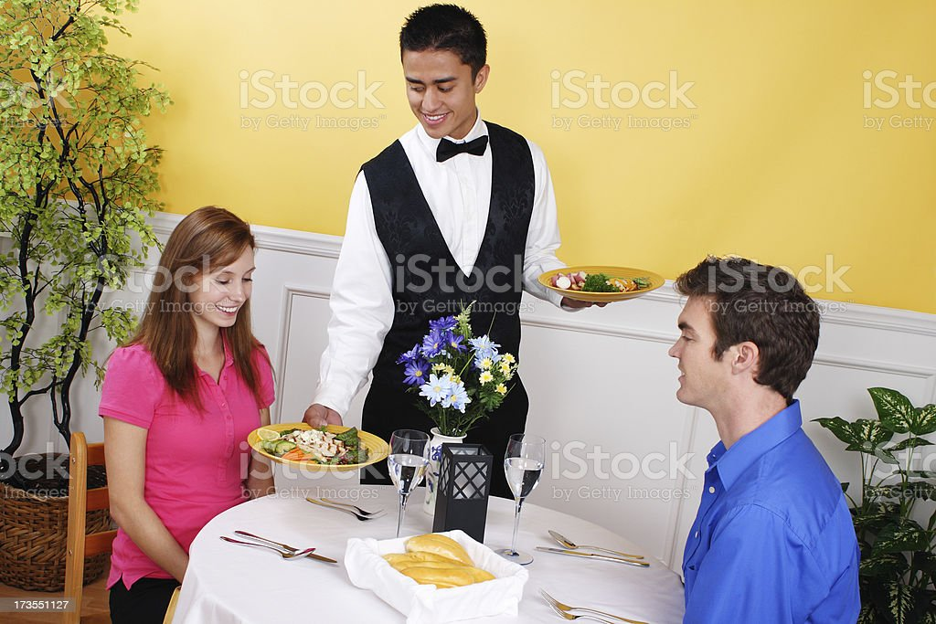 Dinner Is Served royalty-free stock photo