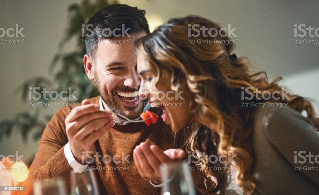 Dinner party. stock photo