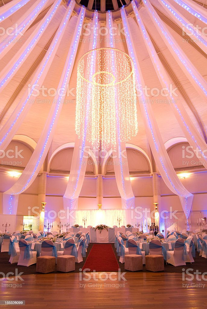 Dinner party venue stock photo