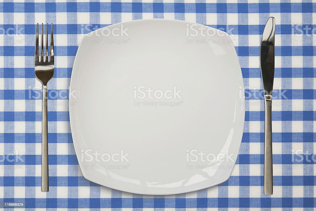 Dinner Place setting, royalty-free stock photo