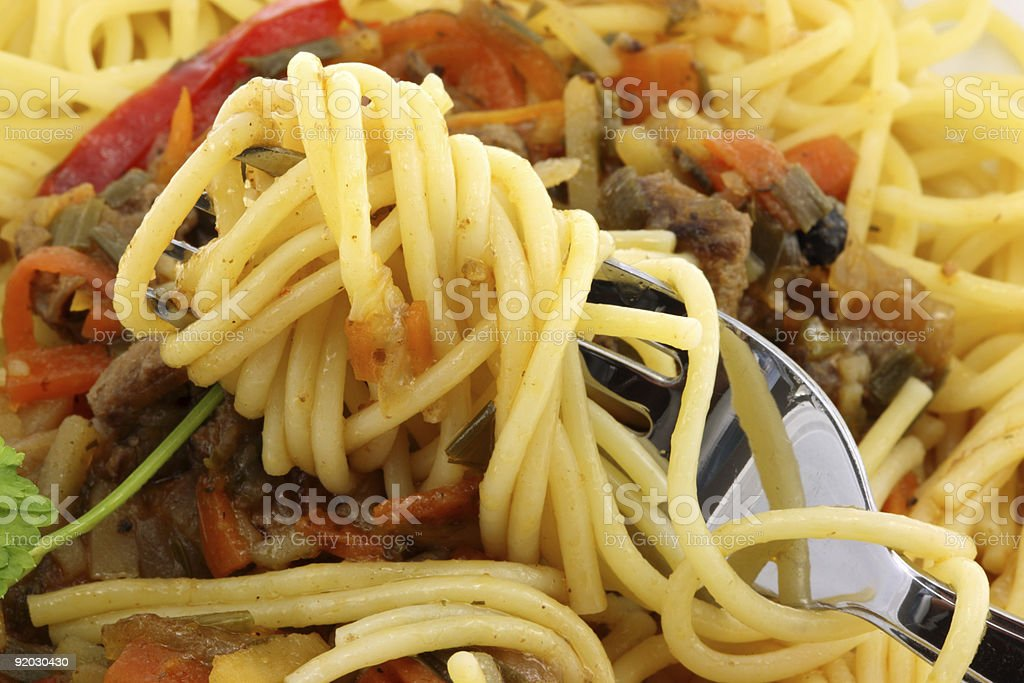 Dinner plate with spaghetti. royalty-free stock photo