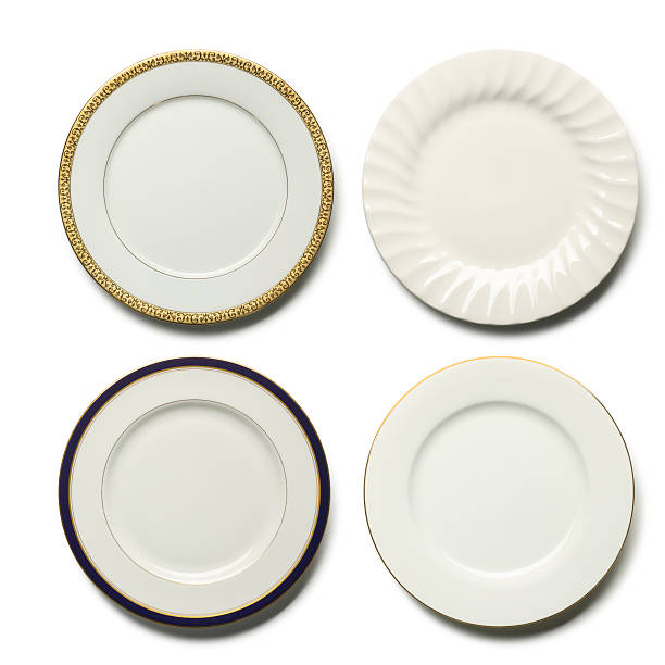 dinner plates - plate stock pictures, royalty-free photos & images
