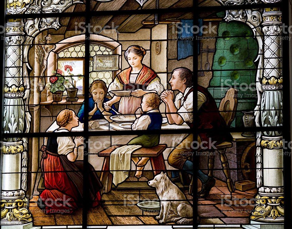 Dinner prayer stock photo