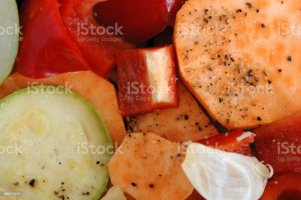 Dinner preparation stock photo