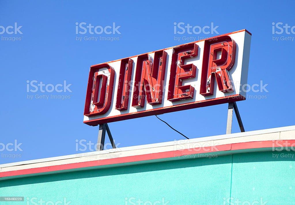 Dinner Sign stock photo