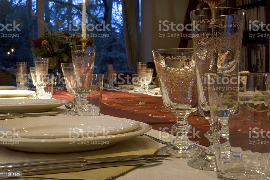 dinner table 1 royalty-free stock photo