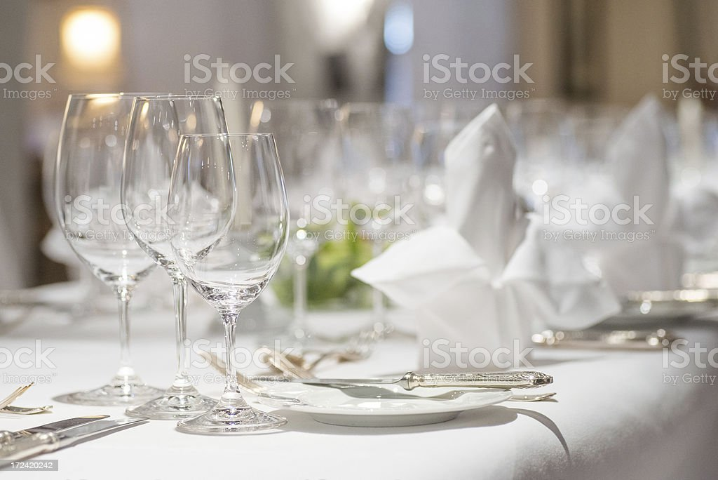 Abendessen Tischdekoration Fur Hochzeittischdeko Stock Fotografie
