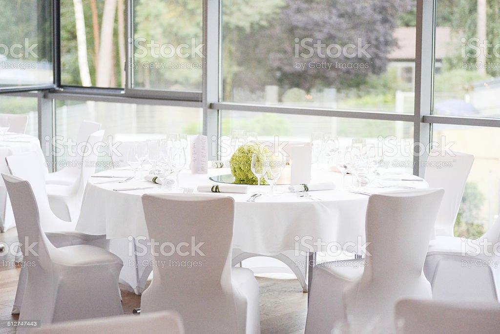 Dinner Table Decoration On Wedding Tischdeko Stock Photo More