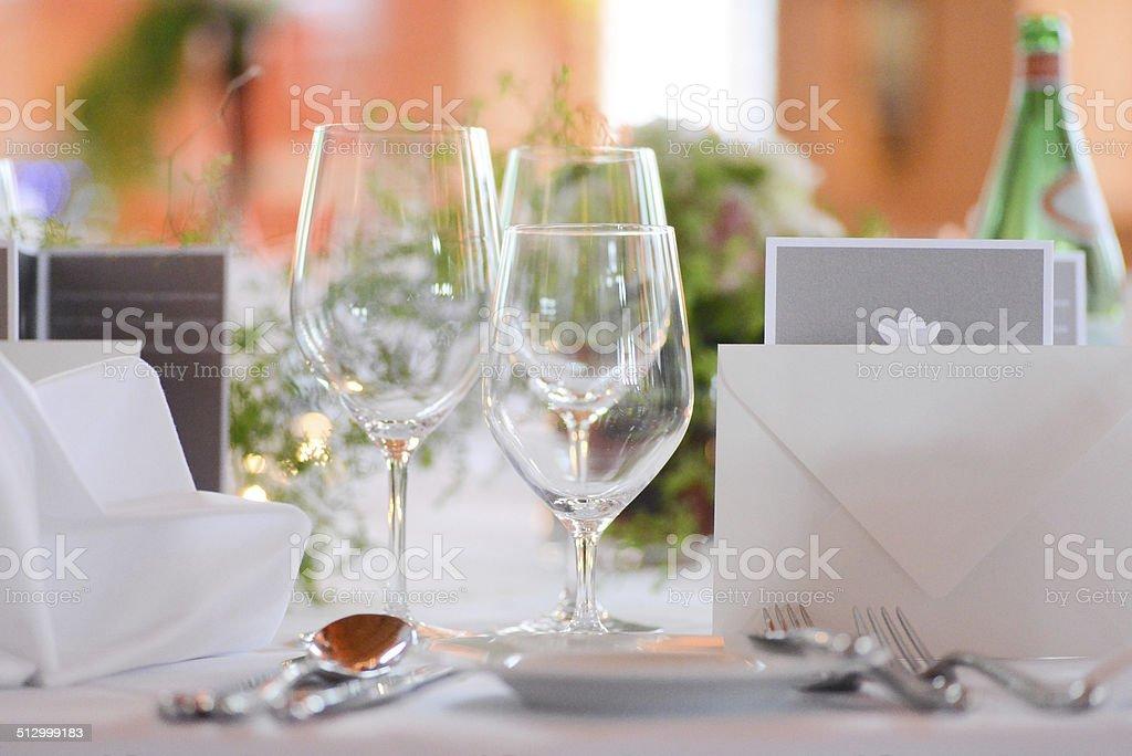 Abendessen Tischdekoration Fur Hochzeittischdeko Stockfoto Istock