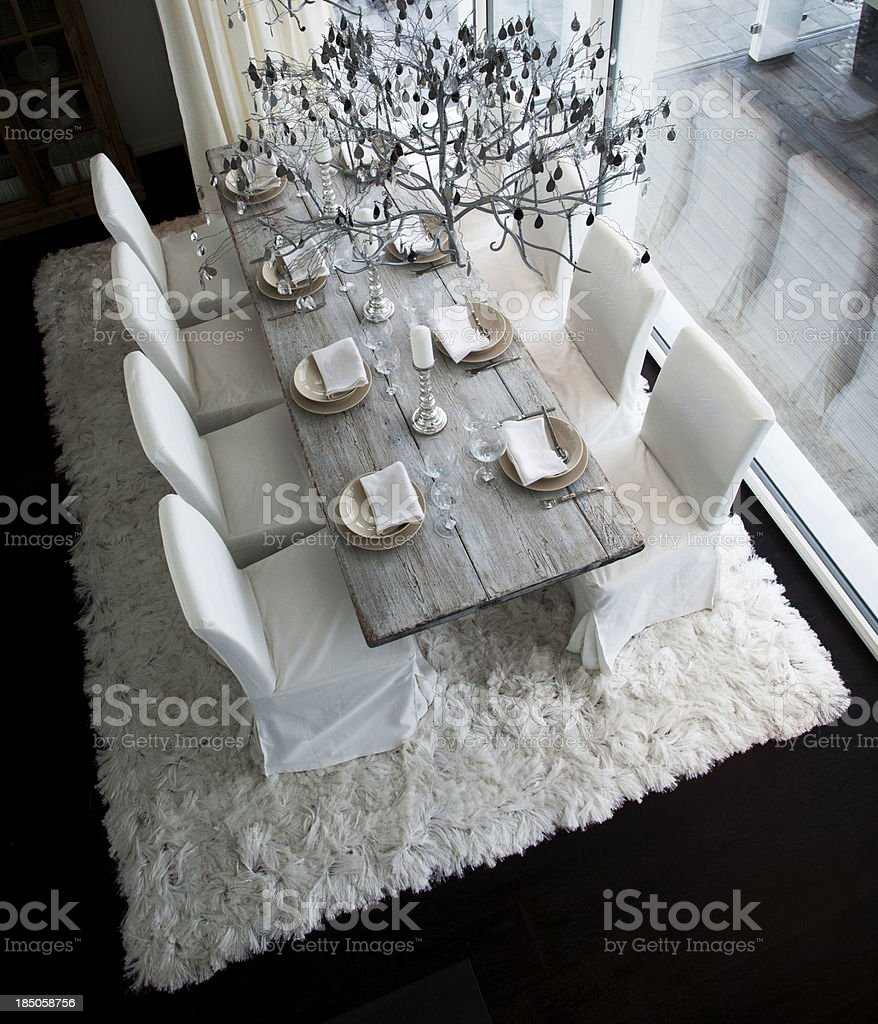 dinner table royalty-free stock photo
