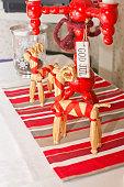 istock Dinner table rustic Christmas 491885514