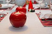 istock Dinner table rustic Christmas 491885536