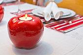 istock Dinner table rustic Christmas 491885570