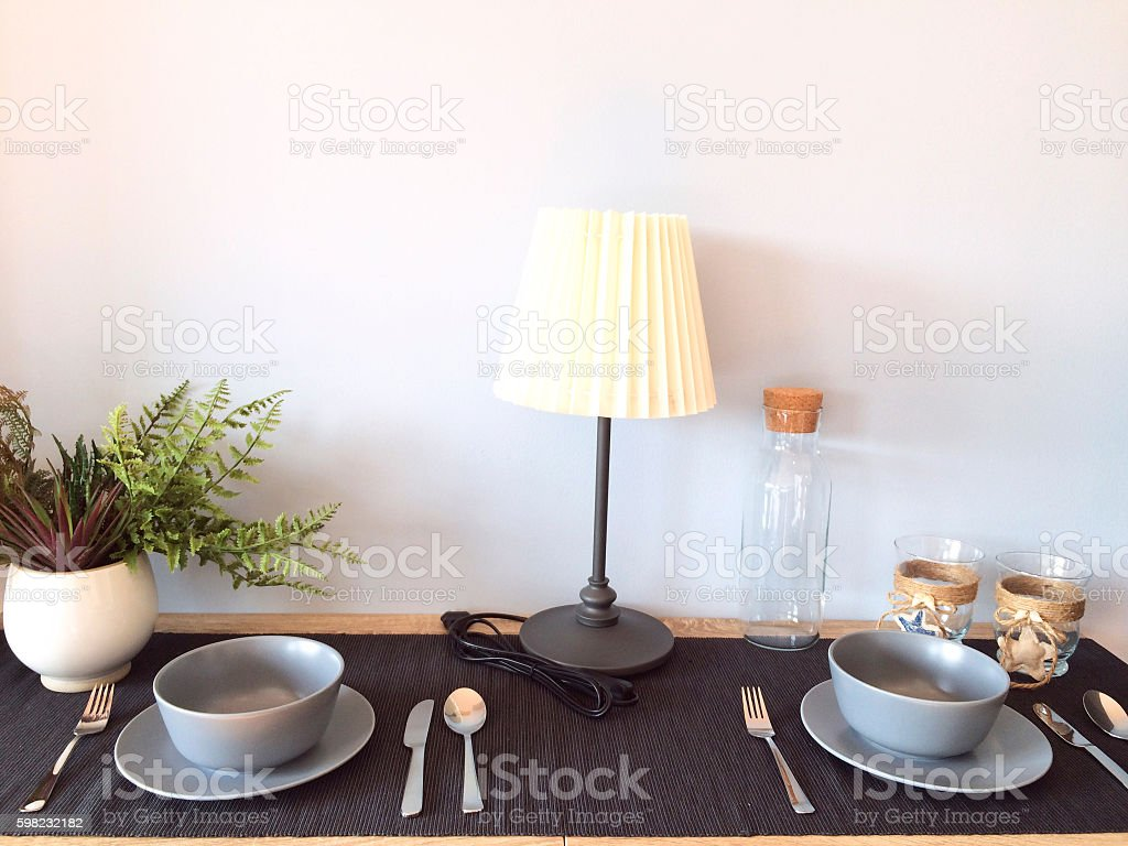 Cenário de mesa de jantar  foto royalty-free