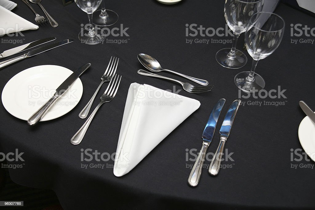 Dinner table Setting royalty-free stock photo