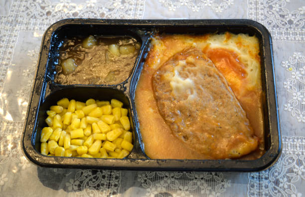 A TV Dinner That Is Ready to be Served stock photo