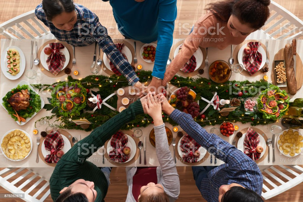 Dinner together stock photo