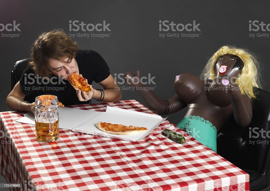 Abendessen mit Puppe – Foto
